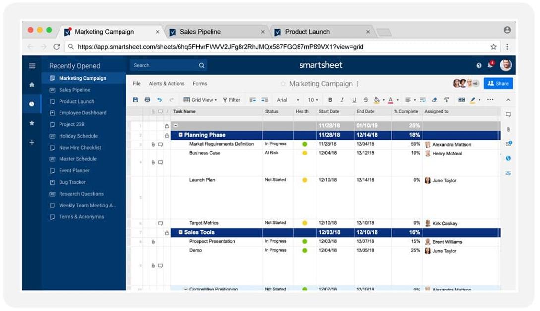Smartsheet best workflow software platform